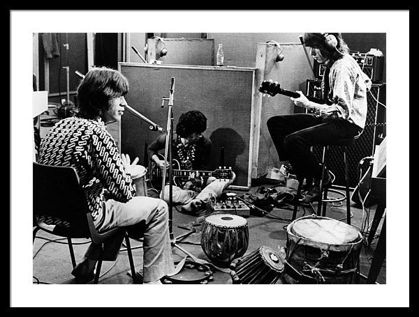 The Rolling Stones recording their hit 'Sympathy For The Devil'