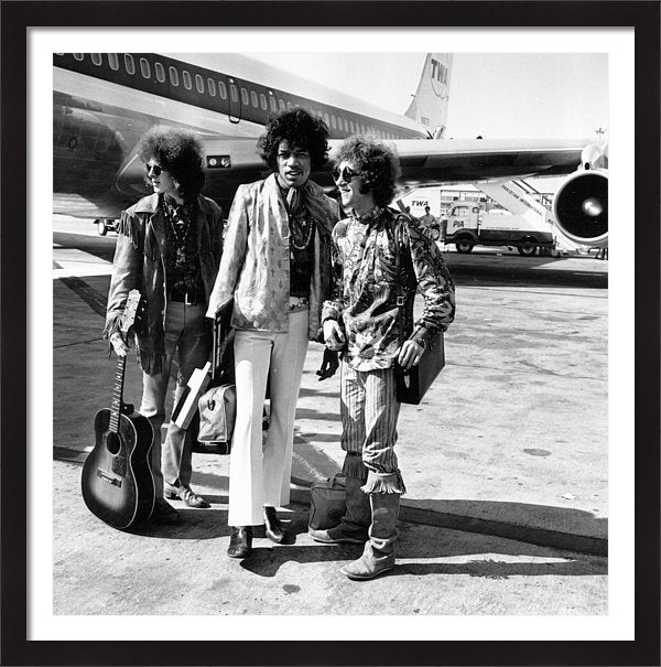 Jimi Hendrix Experience at London Airport Framed Print