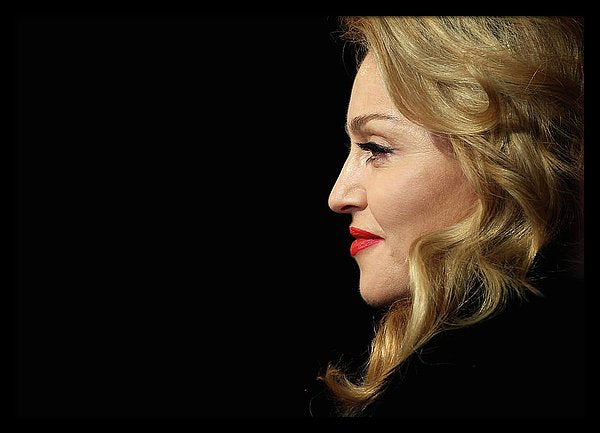 The Madonna arrives at Gala Premiere Of W.e Framed Print