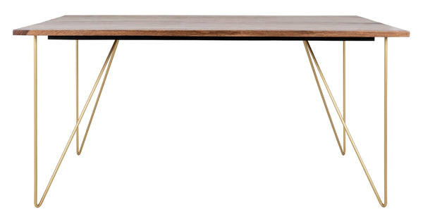 Farren Hairpin Legs Wood Dining Table