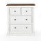 Salem 4 Drawer Dresser White