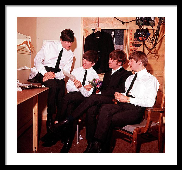The Beatles' read a letter in their dressing room