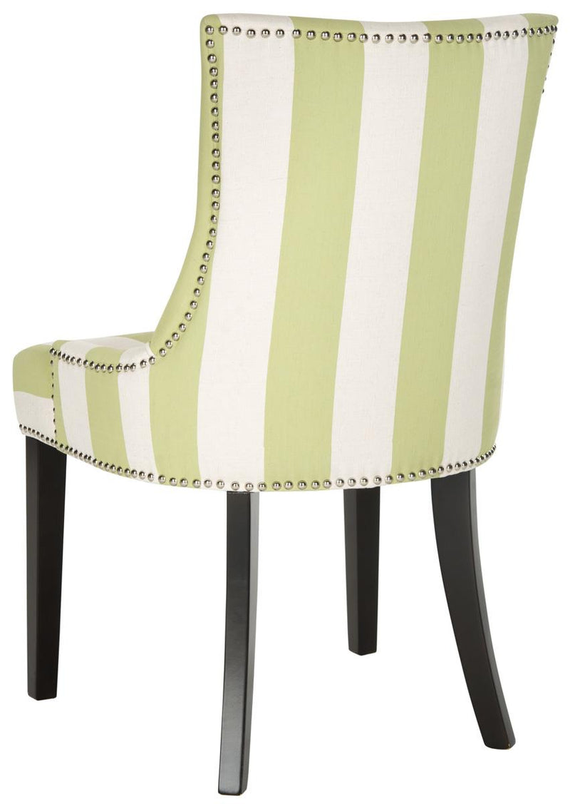 De De 19''h Awning Stripes Dining Chair set of 2 Silver Nail Heads Multi Stripe