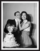 Frank Sinatra with his wife, actor Ava Gardner Framed Prints