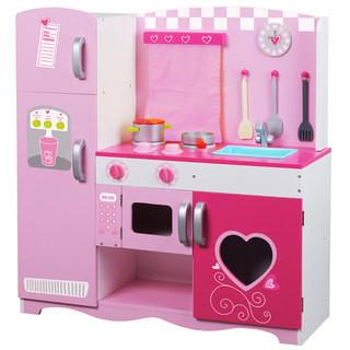 Deluxe Wooden Pink Kitchen