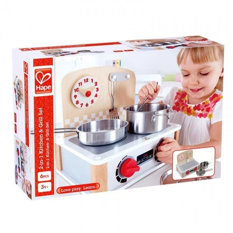 Hape - 2-in-1 Kitchen and Grill Set