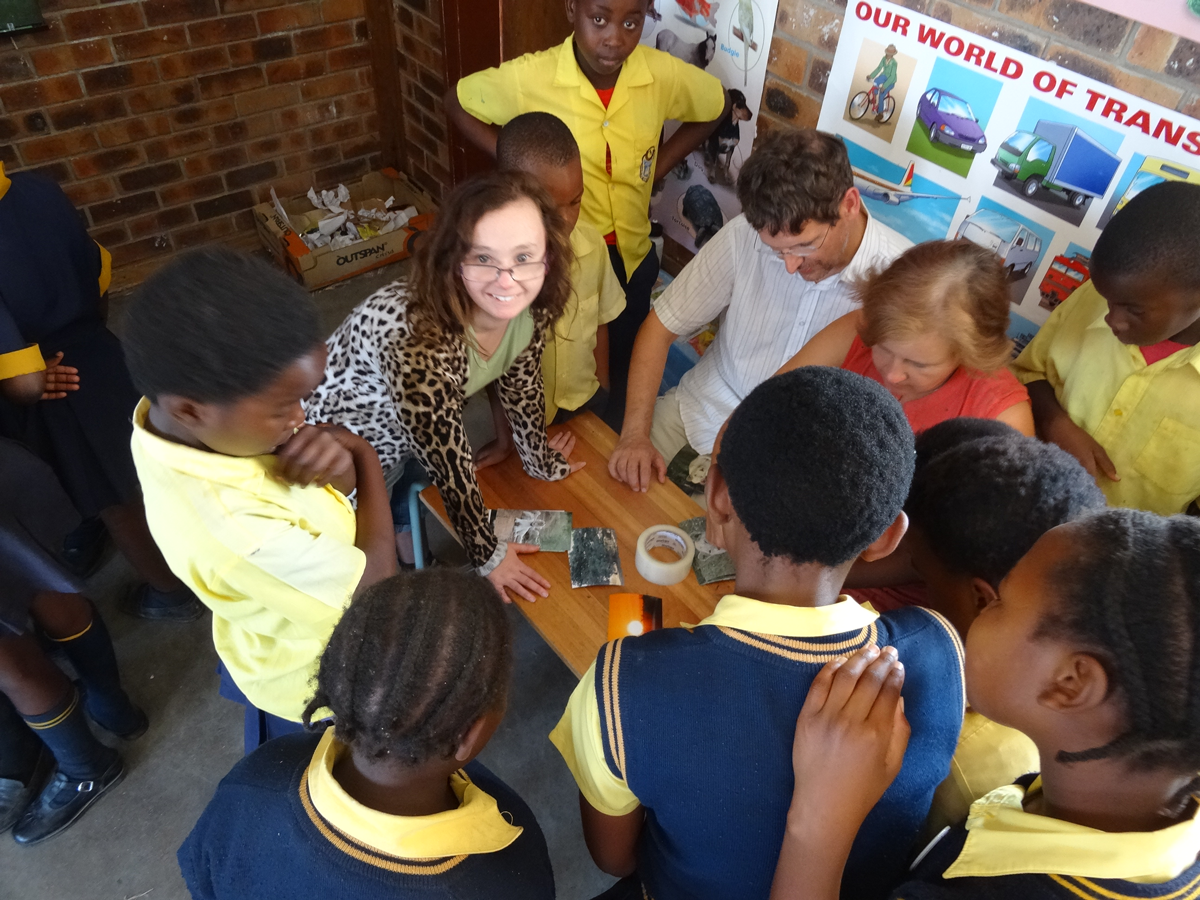 Stephanie and Leanne volunteer in South Africa