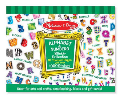 Melissa & Doug - Sticker Collection Alphabet & Numbers