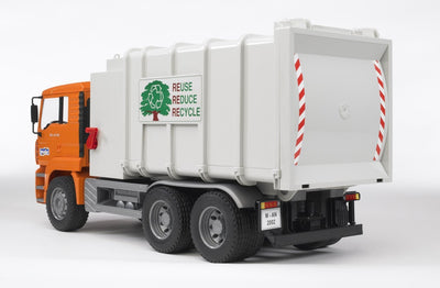 Bruder - Man Side Loading Garbage Truck Orange (02761)