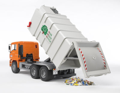 Bruder - Man Side Loading Garbage Truck Orange