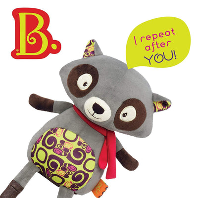B Dot - Happy Yappies Rascal The Racoon Talking Teddy