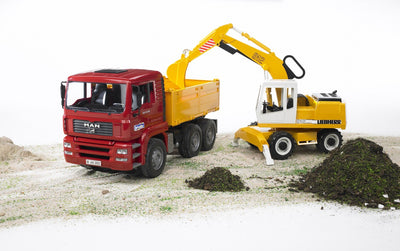 Bruder - Construction Truck and Liebherr Excavator (02751)