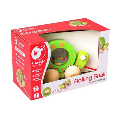 Classic World - Pull Along Rolling Snail