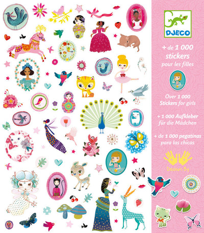 Djeco - 1000 Girl Stickers