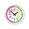 Easy Read - Wall Clock - To/Past - Rainbow