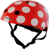 Kiddimoto - Helmet Red & White Dotty
