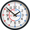 Easy Read - Wall Clock - To/Past - Classroom
