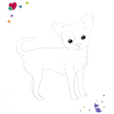 Top Model - Doggy Colouring Book