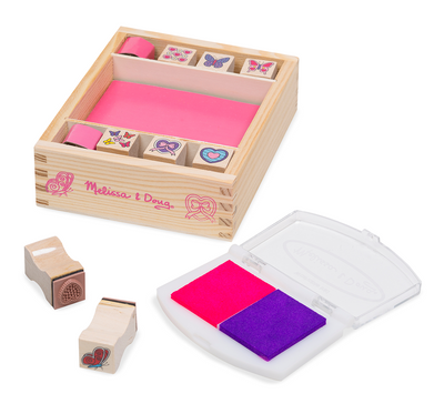 Melissa & Doug - Butterfly & Hearts Stamp Set