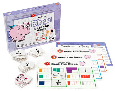 Beat the Hippo Bingo (Fractions)