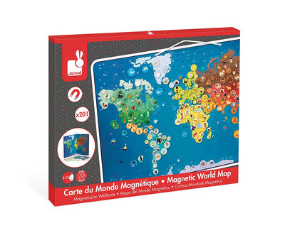 Janod - Animals Magnetic World Map