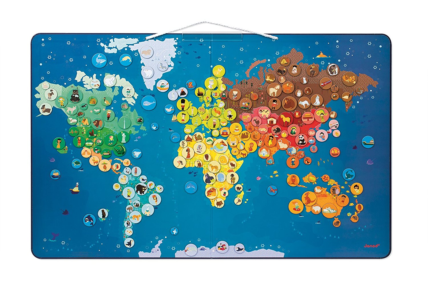 Janod animals magnetic world map the play room janod animals magnetic world map gumiabroncs Images