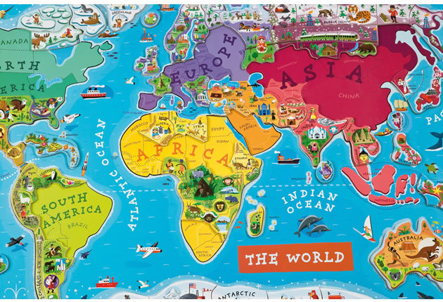 Janod World Map.Janod Magnetic World Map The Play Room