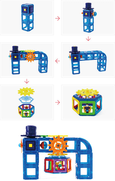 Magformers - Power Gear Set 60Pcs
