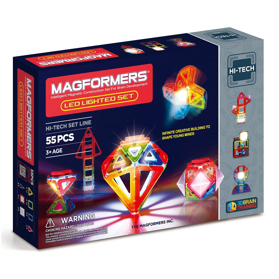 Magformers - Lighted Set 55Pcs