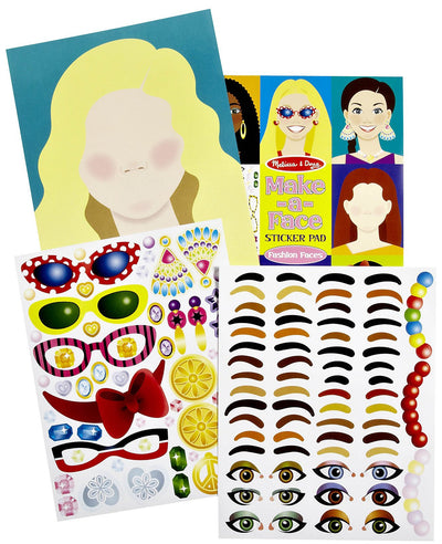 Melissa & Doug - Make - A - Face Fashion Faces Sticker Pad