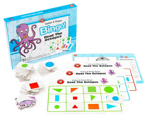 Beat the Octopus Bingo (Colour & Shape)