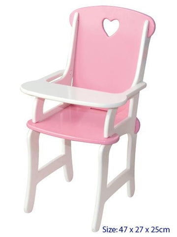 Doll Highchair - Pink