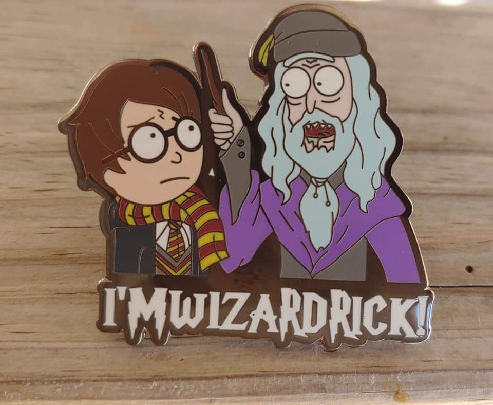 Wizard Rick and Morty Pin
