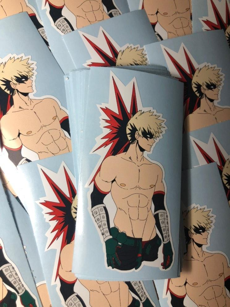 Shirtless Bakugo
