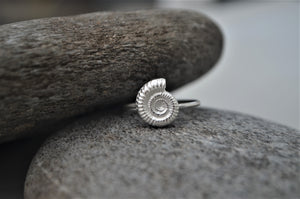 Silver Ammonite Shell Ring