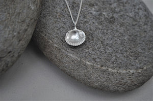 Silver Bawdsey Clam Shell Necklace