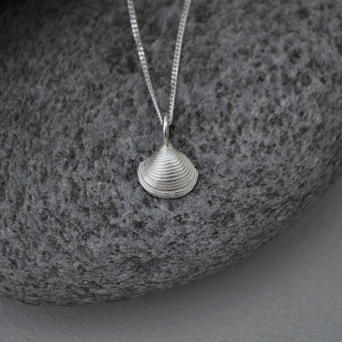Silver Framlingham Clam Shell Necklace