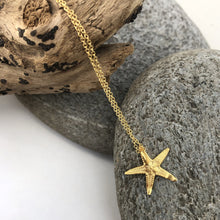 Load image into Gallery viewer, Gold Starfish Necklace