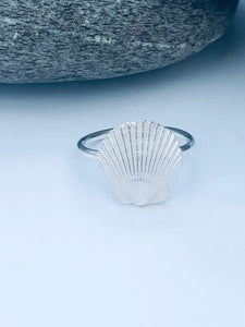 Silver Scallop Shell Ring