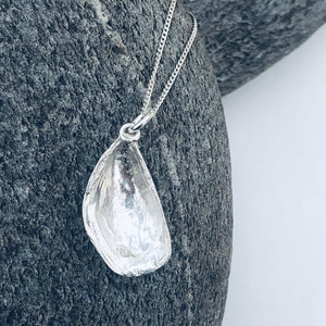 Silver Cornish Mussel Necklace