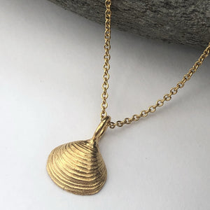Gold  Walberswick Clam Shell Necklace