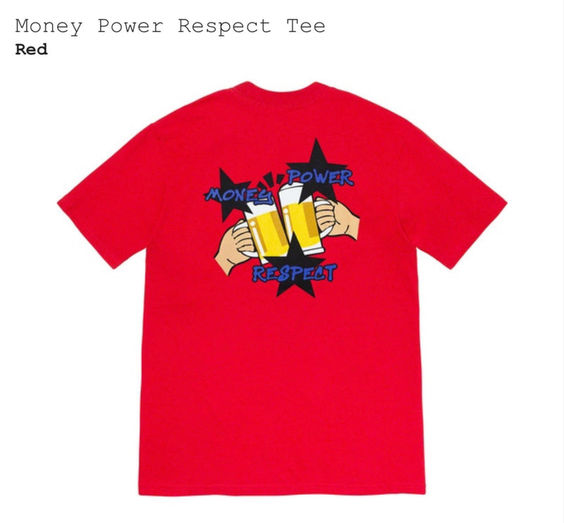 Money Power Respect Tee (Red)