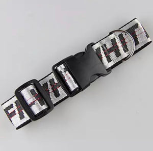 OFF-WHITE DOG COLLAR (SILVER)