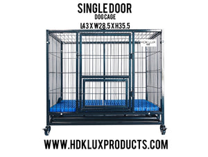 "43"" COLLAPSIBLE SINGLE DOOR CAGE (BLACK) **PRE-ORDER ONLY"