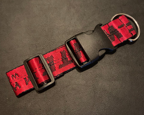 OFF-WHITE DOG COLLAR (RED)