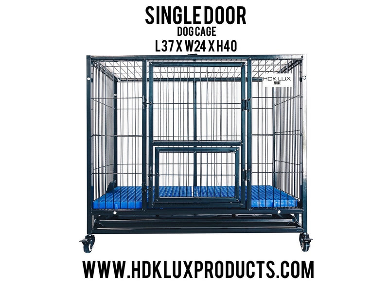 "37"" COLLAPSIBLE SINGLE DOOR CAGE (BLACK) **PRE ORDER ONLY"