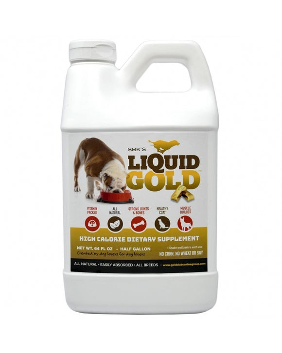 SBK'S LIQUID GOLD High Calorie Supplement for Canines and Felines - Half Gallon