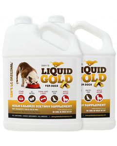 SBK'S LIQUID GOLD High Calorie Supplement for Canines and Felines - Two Gallon Bundle