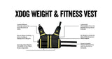 XDOG™ Weight Vest for Dogs, Build Healthy Muscle, Increase Size & Improve Overall Health *