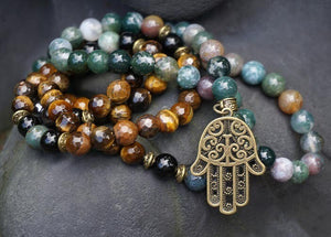 Prayer Beads with Hamsa Hand